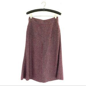 Diane Von Furstenberg Wool Blend Skirt Purple Sz 6